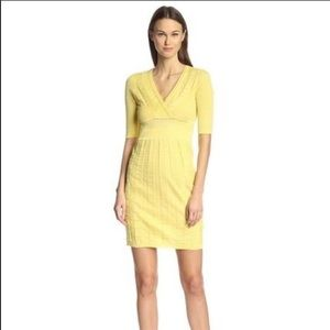 M Missoni Lemon Knit Pencil Dress